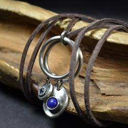 naszyjnik z lapis lazuli,niebieski naszyjnik - Naszyjniki - Biżuteria