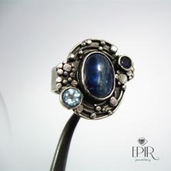 Pierścionek srebrny z kyianitem - Pierścionki - Biżuteria
