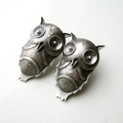 kolczyki,sowy,earrings,owl - Kolczyki - Biżuteria