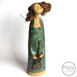 aniołek,święta,muzyka,figurka, - Ceramika i szkło - Wyposażenie wnętrz