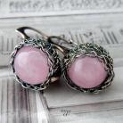 Kolczyki delikatne,pastelowo różowe kolczyki,kulki,iwogg