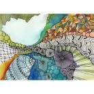 Ilustracje, rysunki, fotografia akwarela,obraz,oryginał,abstrakcja,wnętrze,kobieta