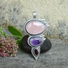 Wisiory kwarc różowy,oryginalny wisior