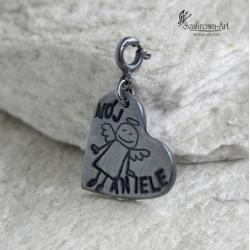 anioł,serce,prezent,talizman - Charms - Biżuteria