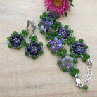 Komplety kwiaty,komplet,kolorowe,wyraziste,plecione