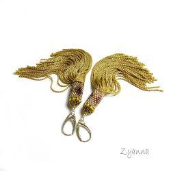 chwosty,kolczyki,boho,dlugie - Kolczyki - Biżuteria