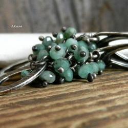 szmaragdy,kolczyki srebrne - Kolczyki - Biżuteria