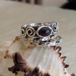 oryginalny,komplet,z opalem,efektowny - Pierścionki - Biżuteria