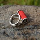 Pierścionki pierścionek z koralem