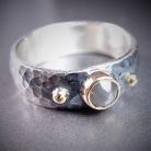 Dla mężczyzn oryginalna obrączka,masywna obrączka,pierścionek
