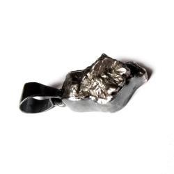 meteoryt,srebrny,blask,czerń,unisex,surowy,męski - Wisiory - Biżuteria