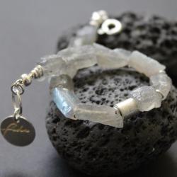 srebro,bransoletka,labradoryt,fado,handmade - Bransoletki - Biżuteria