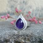Pierścionki fiolet,wrzoso,ametyst,pierścień,Rivendell