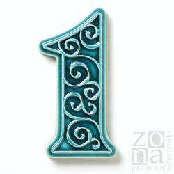 numer domu,cyfra,na dom,ozdobna,ornament - Ceramika i szkło - Wyposażenie wnętrz