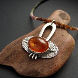 bursztyn,biżuteria srebrna,z bursztynem,fiann - Naszyjniki - Biżuteria