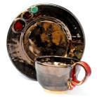 Ceramika i szkło filiżanka,ceramika,naczynia,talerzyk,unikat,