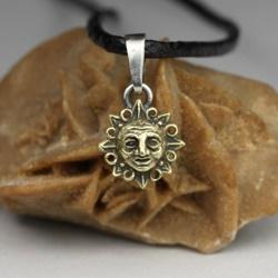 słońce,astronomia,natura,lato,amulet,twarz - Wisiory - Biżuteria