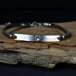 bransoletka z kamieniem księżycowym - Bransoletki - Biżuteria