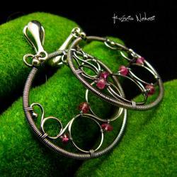 Nehesi,kolczyki,srebrny,srebrne,koła,wirewrapping - Klipsy - Biżuteria