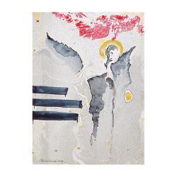 anioł,anioły,abstrakcja,skrzydła,na ścianę,wnętrze - Ilustracje, rysunki, fotografia - Wyposażenie wnętrz