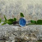Pierścionki błękitne oczko,kyanit,drobny pierścionek