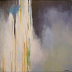 abstrakcja,szary,zielony,biały - Obrazy - Wyposażenie wnętrz