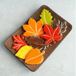 liście,jesień,kolorowe,magnesy - Magnesy na lodówkę - Wyposażenie wnętrz