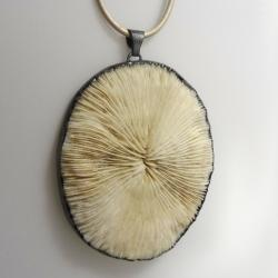 koral,skamieniały,okaz,srebrny,natura,unikat,srebr - Wisiory - Biżuteria