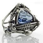 Pierścionki pierścionek,litori,wire-wrappping,szafirowy