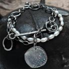 Bransoletki Bransoletka,srebro i naturalne perły