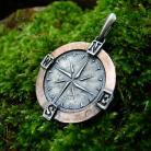 Wisiory kompas,róża wiatrów,talizman,amulet