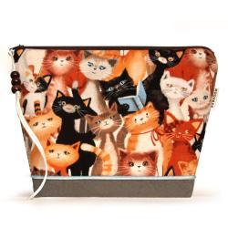kosmetyczka,dla dziewczynki,koty,kociaki,saszetka, - Kosmetyczki - Dodatki