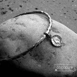 z zawieszka,z monetka,srebro oksydowane,charms - Bransoletki - Biżuteria