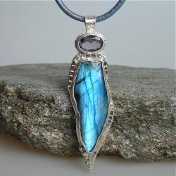 ekskluzywny,niebieski,labradoryt - Wisiory - Biżuteria