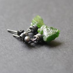fado,kolczyki,zielone,diopsyd,handmade - Kolczyki - Biżuteria
