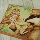 Pudełka pirografia,wymalanie na drewnie,szkatułka,