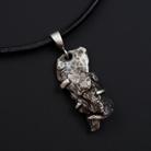 Naszyjniki wisiorek,unisex,meteoryt,surowy,srebro