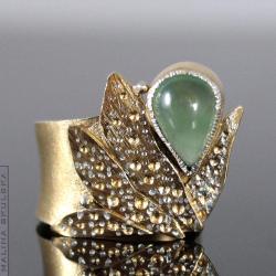 pierścionek,regulowany,baśniowy,bogaty,frenit - Pierścionki - Biżuteria