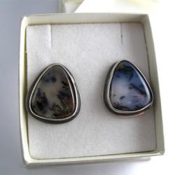 Kolczyki srebrne z jaspisami - Kolczyki - Biżuteria