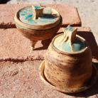 Ceramika i szkło cukiernia,unikat,rękodzieł,pojemnik na cytrynęo