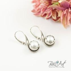 klasyczne,eleganckie,perłowe - Kolczyki - Biżuteria