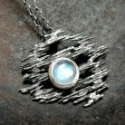 Wisiory wisior - srebro z kamieniem księżycowym