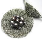 Naszyjniki naszyjnik,perły,elegancki,klasyczny,szydełko