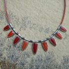 Chilli - srebrny naszyjnik z koralami vol.2
