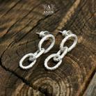 Kolczyki kolczyki,łańcuszek,delikatna biżuteria
