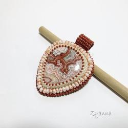 agat koronkowy,niepowtarzalny,wisior - Wisiory - Biżuteria