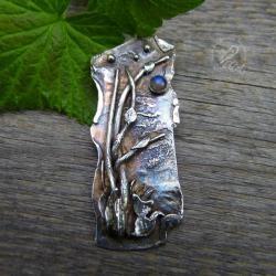 kot,wisior,art clay,metaloplastyka - Wisiory - Biżuteria