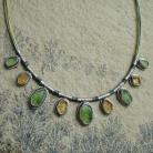 Naszyjniki surowe kamienie,oliwin,cytryn