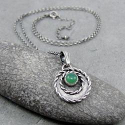 okrągły,wianek,naturalny,romantyczny,boho - Naszyjniki - Biżuteria
