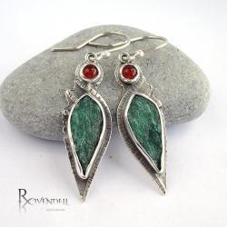 zielone,zieleń,bajka,Rivendell - Kolczyki - Biżuteria